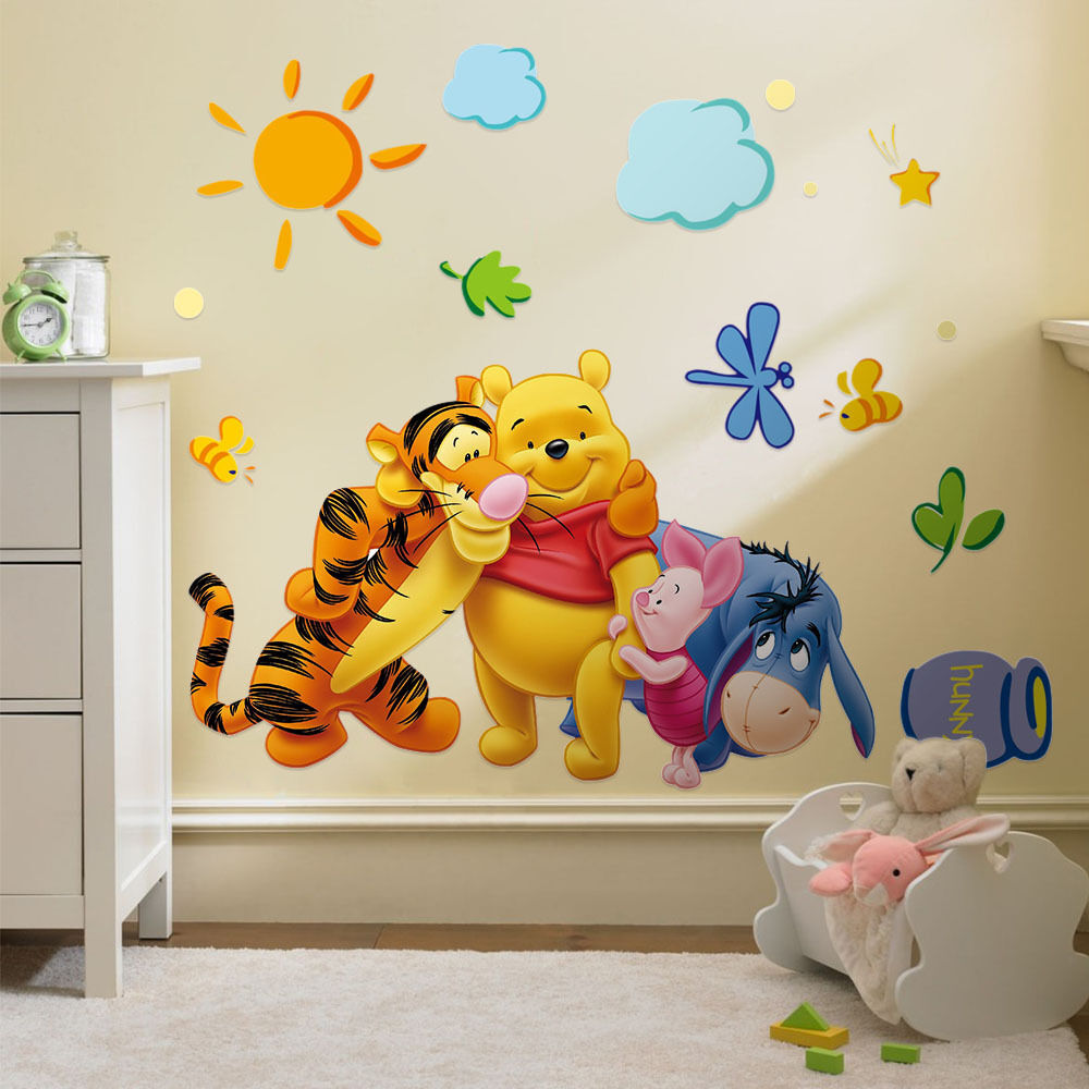 Winnie The Pooh Vinyl Mural Wall Sticker Decal Removable