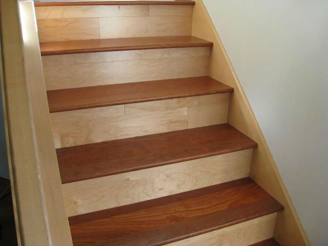 Stair Tread Solid Wood Unfinished Bullnose Multiple Sizes