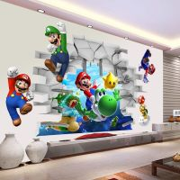 Super Mario 3d Kids Nursery Removable Wall Decal Vinyl ...
