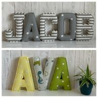 Fabric letters Wall Art Handmade Nursery name ...