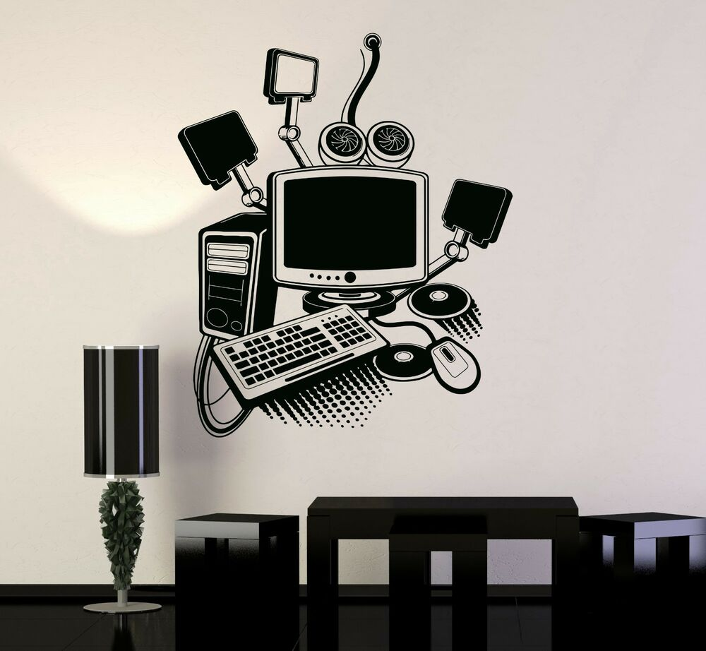 Gamers Quotes Wallpaper Vinyl Decal Gamer Play Room Pc Computer Kids Art Mural