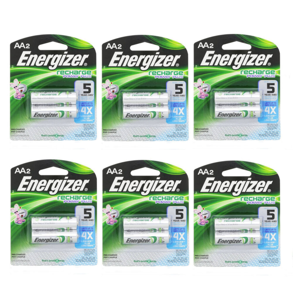 Batterie Aa 6 Pack Energizer Rechargeable Power Plus Aa 2300 Mah Batterie 2 Ea 12 Batteries 39800008688 Ebay