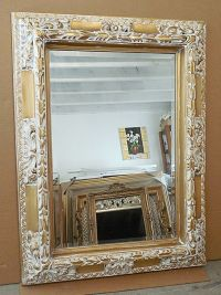 """Large Solid Wood """"36x48"""" Rectangle Beveled Framed Wall ..."""