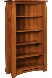 Amish Mission Colebrook Bookcase Book Shelf Solid Wood 65 ...