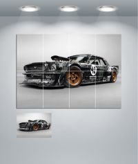 Ford Mustang Hot Rod Muscle Car Giant Wall Art Poster ...