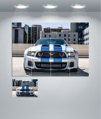 Ford Mustang Muscle Car Giant Wall Art Poster Print | eBay