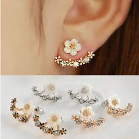 Cute Fashion Daisy Flower Crystal Front and Back Ear ...