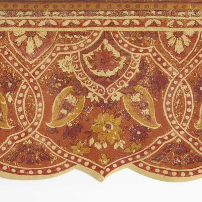 Victorian Archictectural Paisley Rust Orange Gold -ONLY$9 Wallpaper Border A073A | eBay