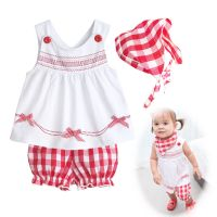 Newborn Toddler Baby Girl Summer clothes + pants + scarfs ...