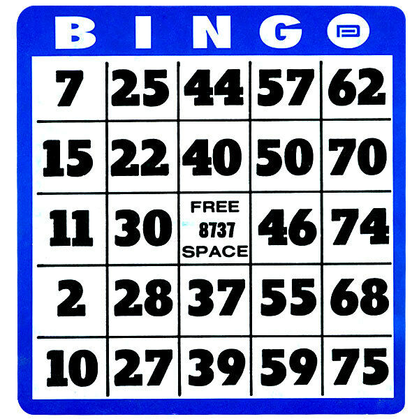 Large Print Bingo Cards For Low Vision, Big Numbers, Thick Cards