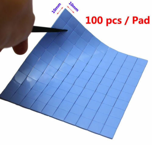 100pcs 10mm10mm05mm Silicone Thermal Conductive Pad