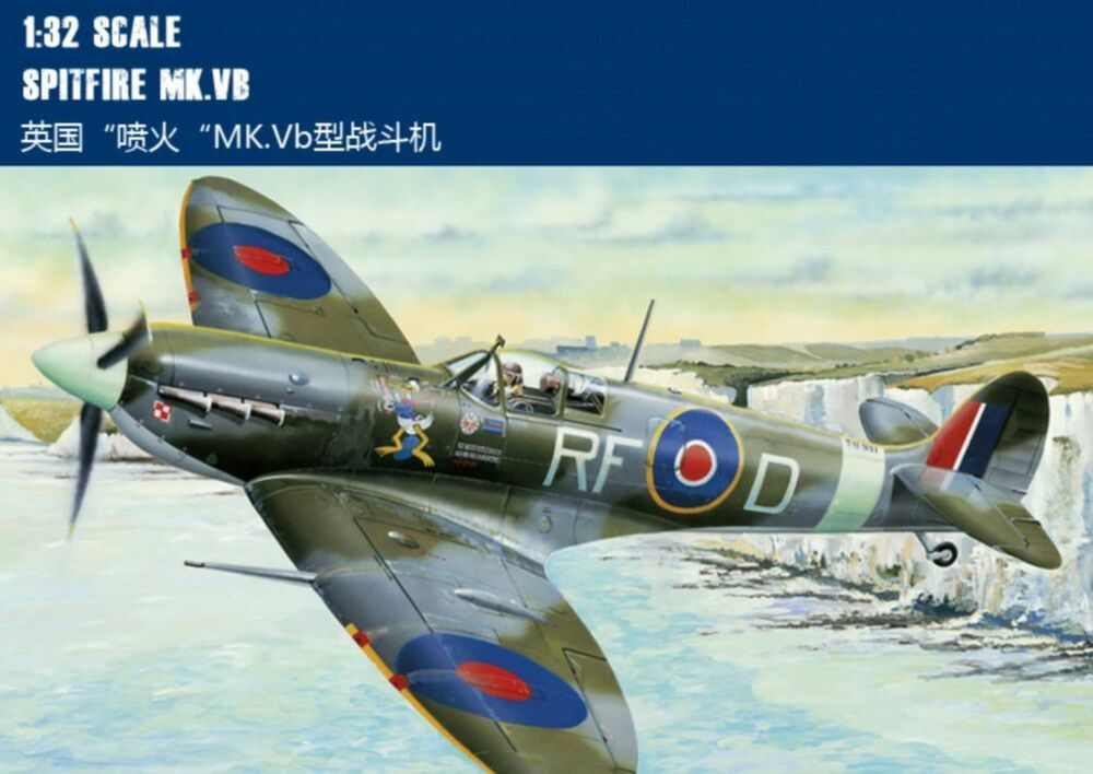 Airplane Hobby Shop Hobby Boss Trumpeter 1/32 83205 Spitfire Mk.vb Model Kit