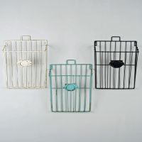 Wire Magazine Newspaper Basket Wall Mounted Post Storage ...