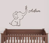 Personalized Elephant Wall Decal Nursery Decor | eBay