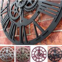 Modern Home Decor Wall Clock Large Round Metal Color ...