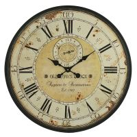 Vintage Wall Clock Rustic Antique Style Large 31.5 ...