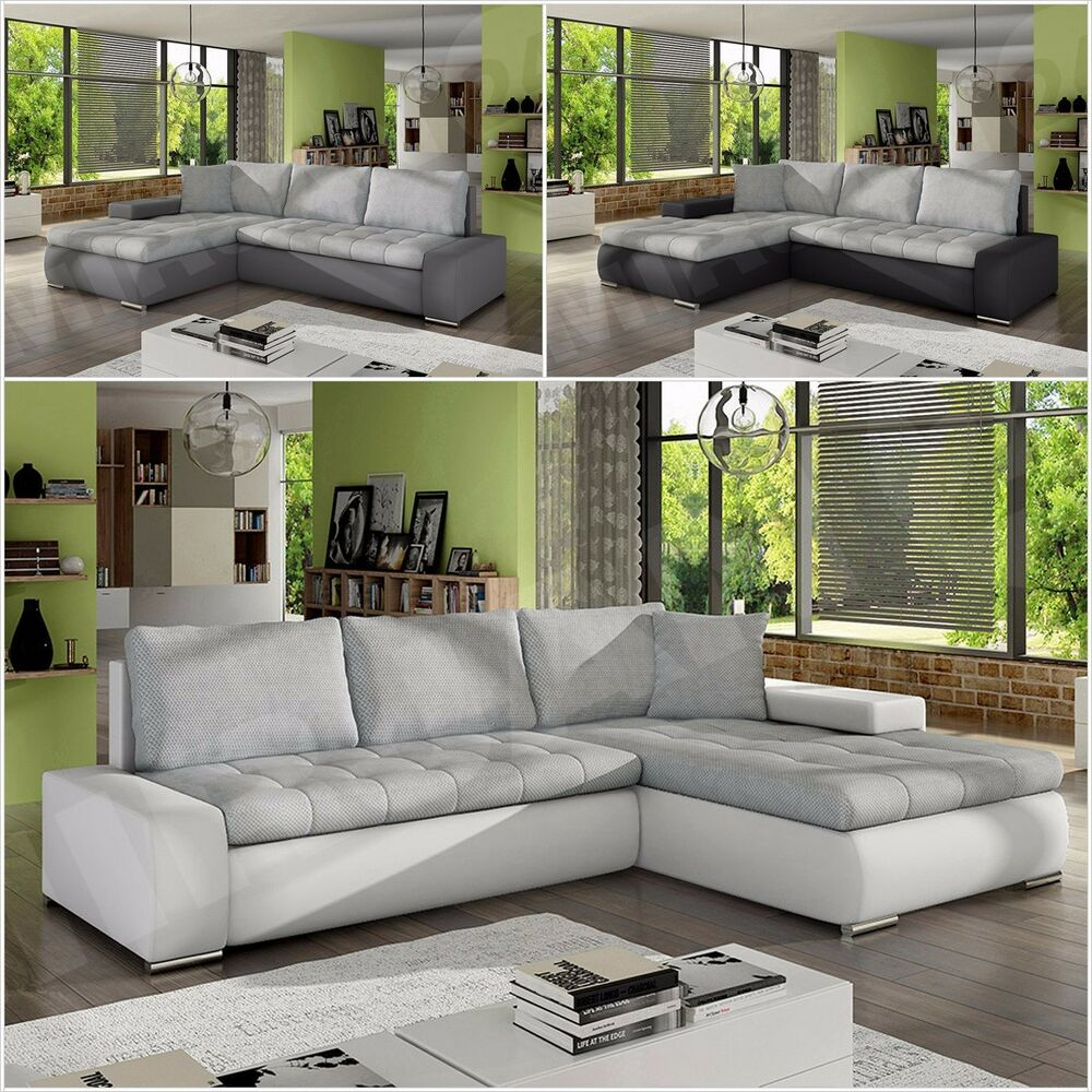 Smart Ecksofa Anna Eckcouch Ecksofa Anna Mini Smart Sofa Couch Mit Schlaffunktion Couchgarnitur Ebay