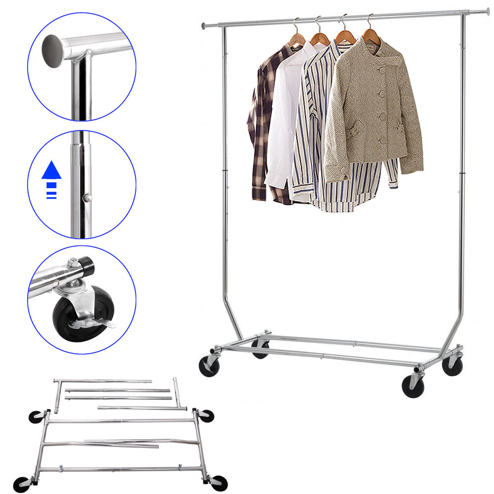 Garment Rack Collapsible Commercial Grade Heavy Duty