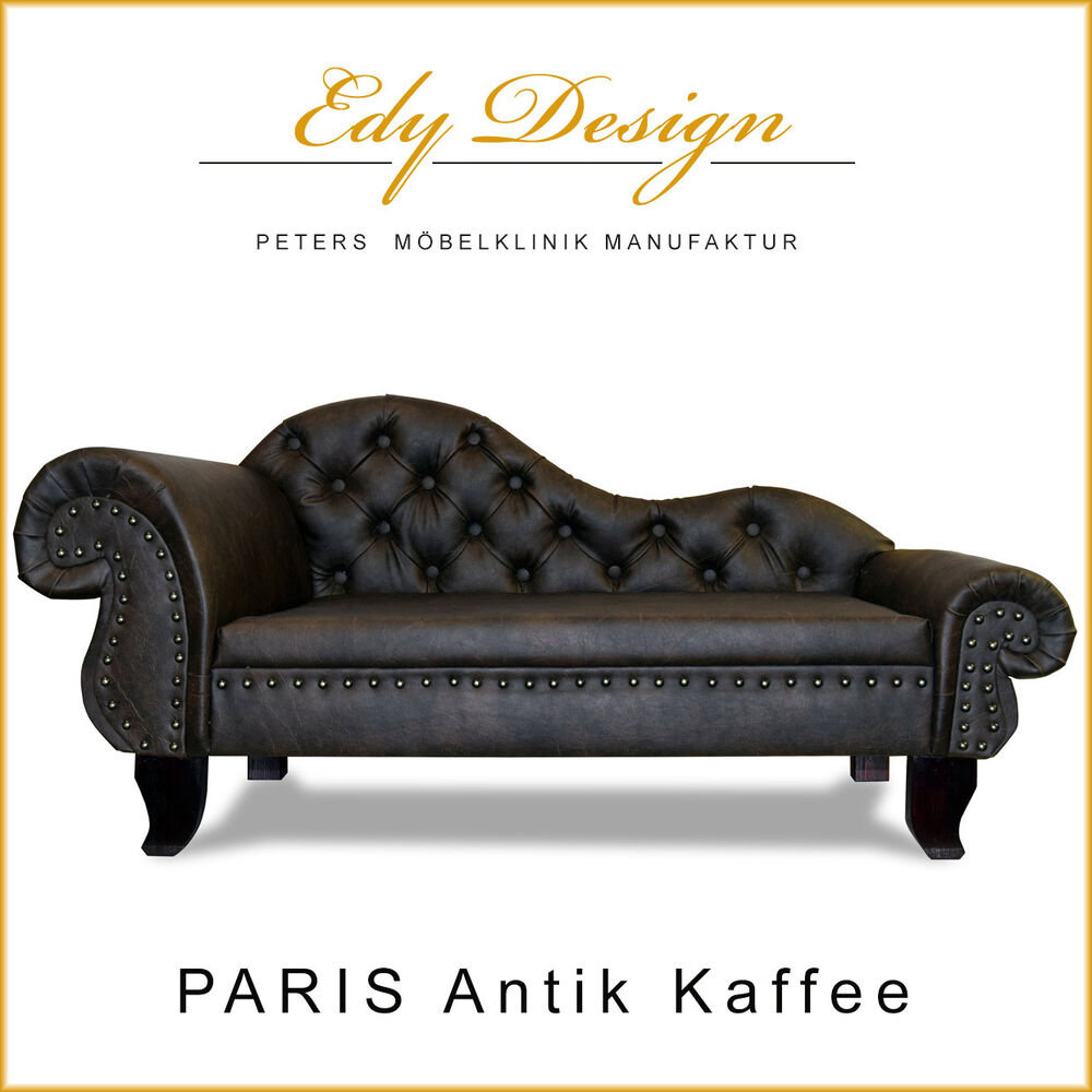 Chaiselongue Recamiere Luxury Dog Sofa Dog Bed Paris Chaiselongues Chesterfield Xxl Antique Coffee 732059763475 Ebay