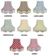 Gingham Check Lamp shades Chandelier Lights Table Lamp