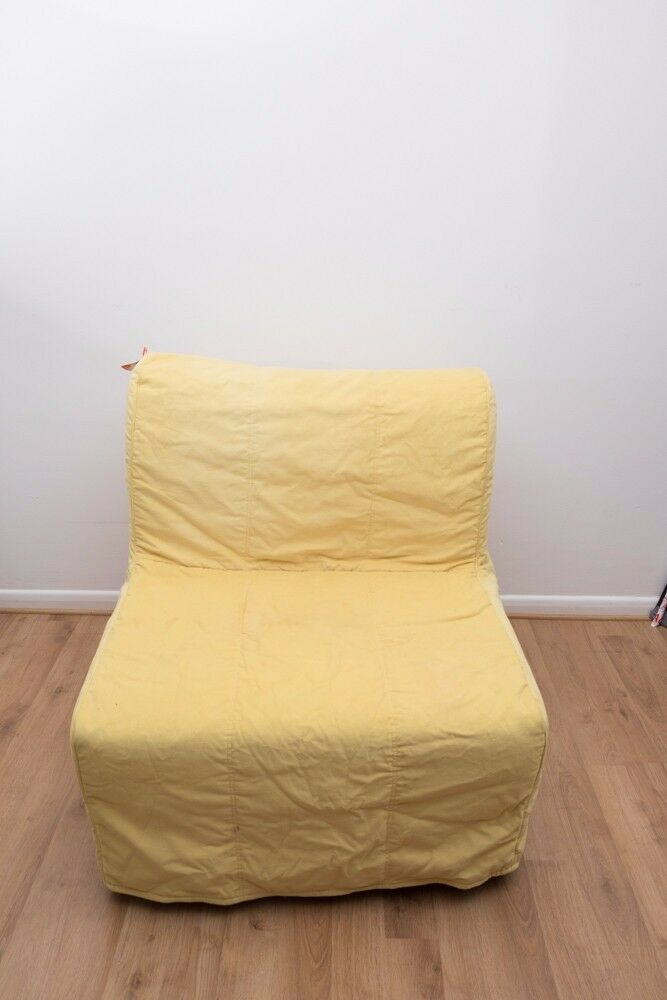 Bettsessel Ikea Ikea Lycksele Single Fold Out Guest Chair Bed + Yellow