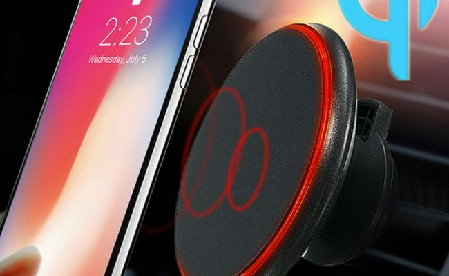 Qi Wireless Car Charger Magnetic Air Vent Mount Holder For