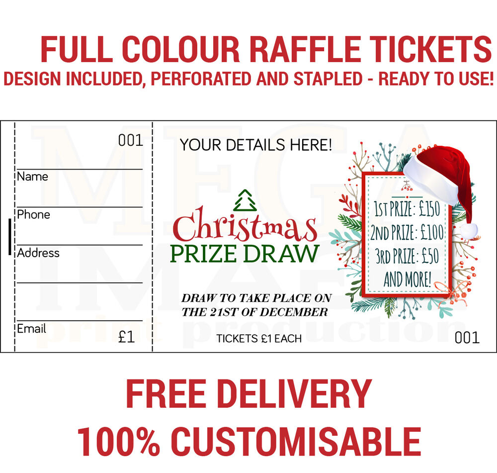 raffle ticket printing template