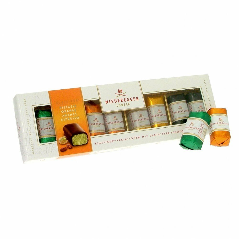 Lübeck Card Niederegger Marzipan Gift Box 8 Loaves 4 Flavours German Premium Lubeck 100g 4000161110156 Ebay