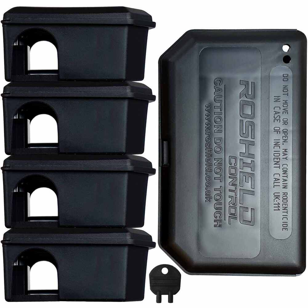 Mouse Bait Boxes Roshield 5 X Plastic Mouse Bait Boxes Empty Holds Poison For Safe Mice Control 3542339189317 Ebay