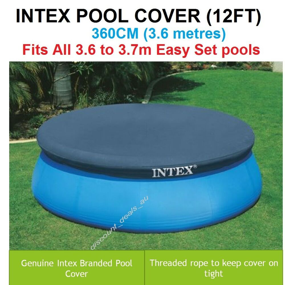 Abdeckplane Frame Pool 305 Intex Pool Cover Easy Outdoor Swimming Pool Cover W Tie Down Rope