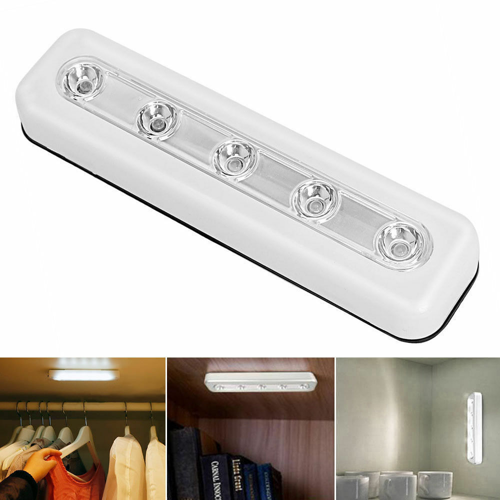 Stick On Wall Lamp Light Led Touch Operated Induction Lamp Battery Stick On Wall Lamp Under Cabinet Ebay
