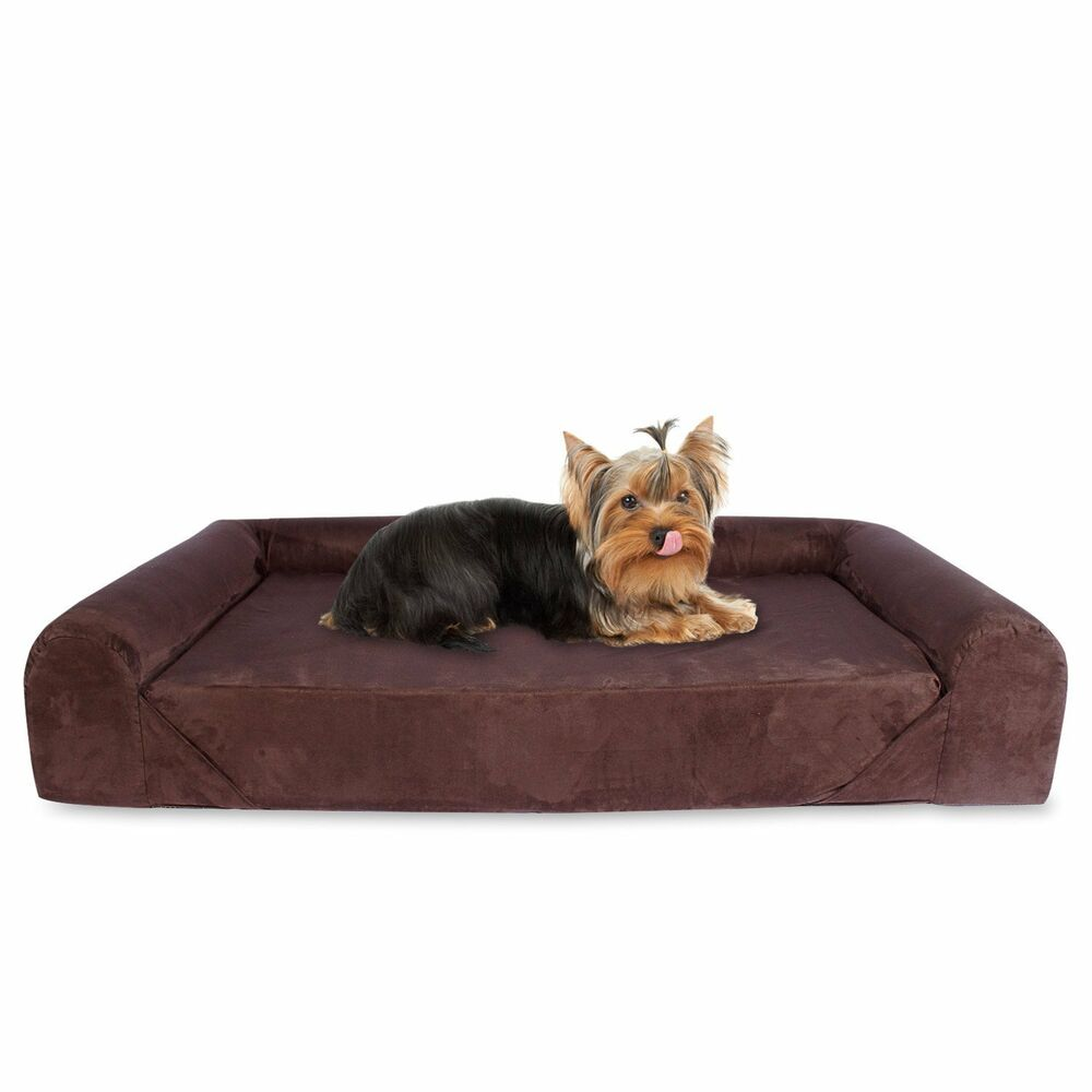 Sofa Open Box Kopeks Deluxe Orthopedic Memory Foam Sofa Lounge Dog Bed Small Brown Open Box 736983030566 Ebay