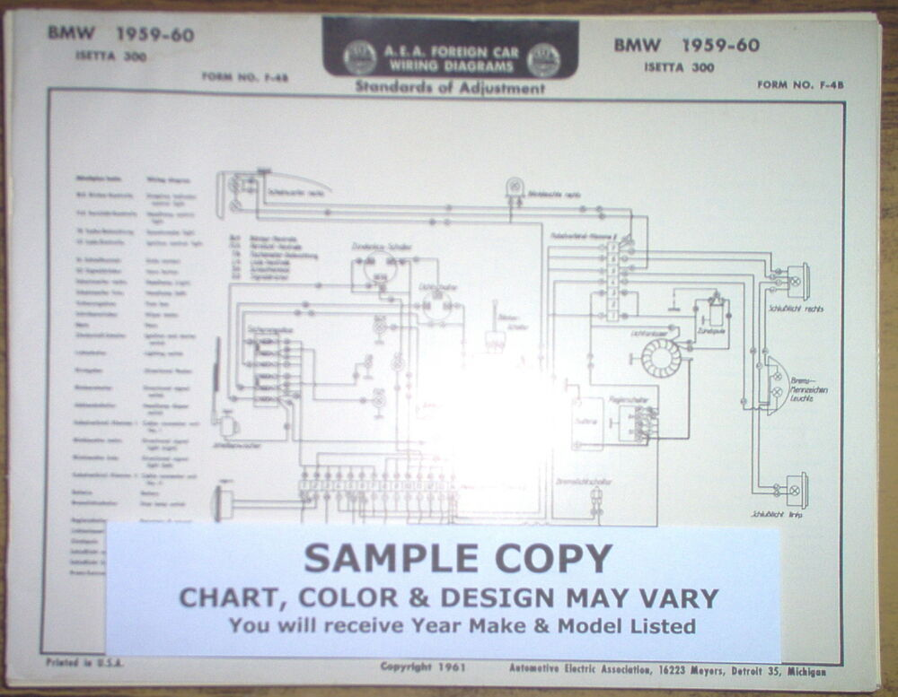 1963 1964 Ford FOUR Series All DeLuxe Models AEA Wiring Diagram