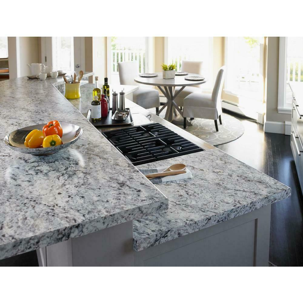 Granite Laminate Countertop Sheets 5 Ft X 12 Ft Laminate Sheet In White Ice Granite With Matte Finish Resistant 722603003713 Ebay