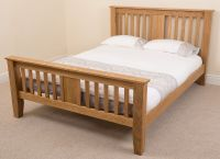 Boston Solid Oak Wood 5ft King Size Bed Frame Bedroom