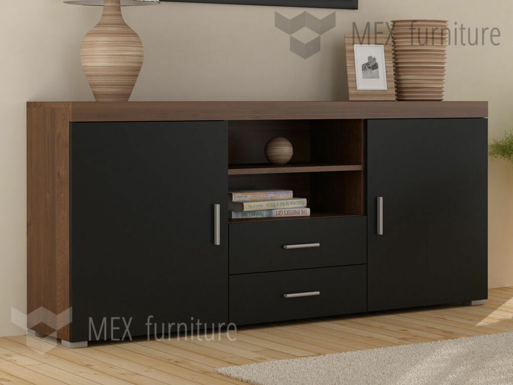 Tv Sideboard 2 Doors 2 Drawers Sideboard Cupboard Tv Cabinet Free
