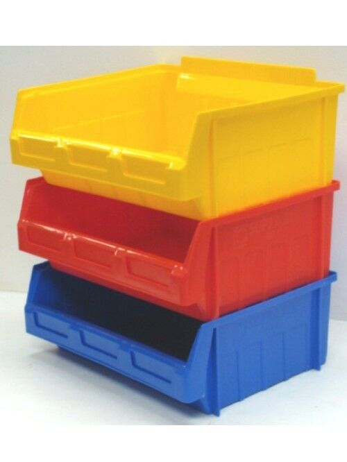 10 X Size 5 Ex Large Plastic Storage Stacking Picking Bins