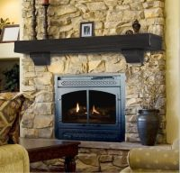 Pearl Mantel Shenandoah rustic fireplace mantel shelf ...