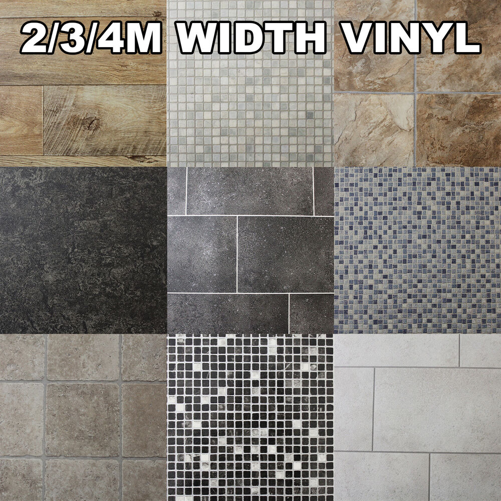 mosaic lino flooring linoleum kitchen flooring Quality Non Slip Vinyl Flooring Kitchen Bathroom Lino Wood Tiles Cheap Rolls