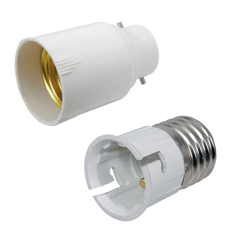 Gloeilamp Bajonet Fitting B22 - E27 Bayonet Screw Lamp Light Bulb Converter Adaptor