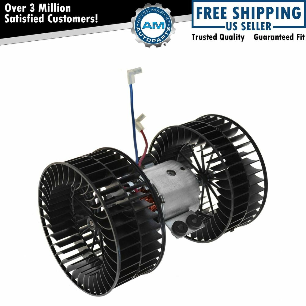Heater Blower Motor Dual Fan Cages Front For 95 01 Bmw
