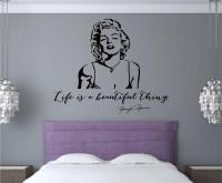 Marilyn Monroe Quote Life Is Beautiful Vinyl Decal Wall ...