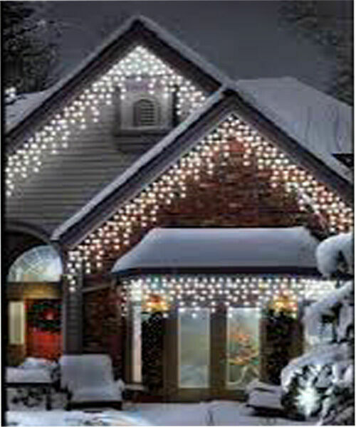 Led String Lighting Outdoor 960led White Icicle Chaser Light Outdoor Indoor Christmas Xmas 8 Function Lights | Ebay