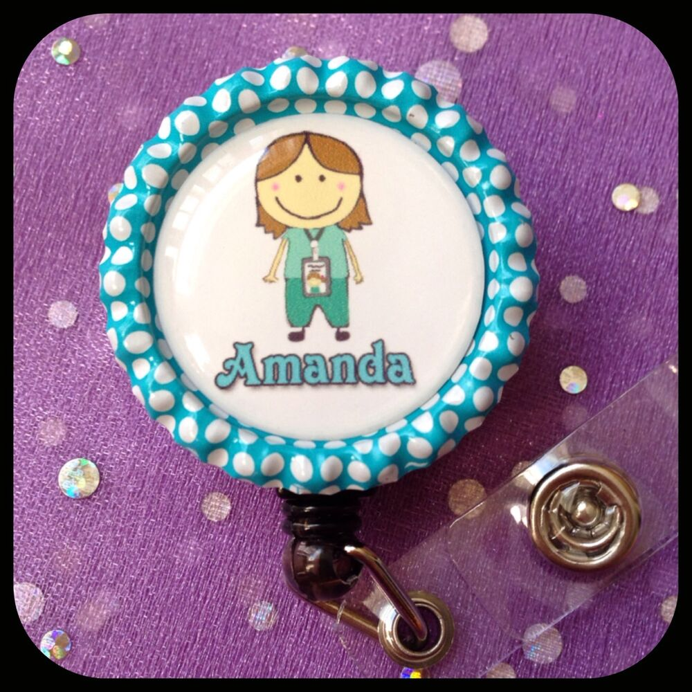 Medical Asst Personalized Name Retractable Work Id Badge