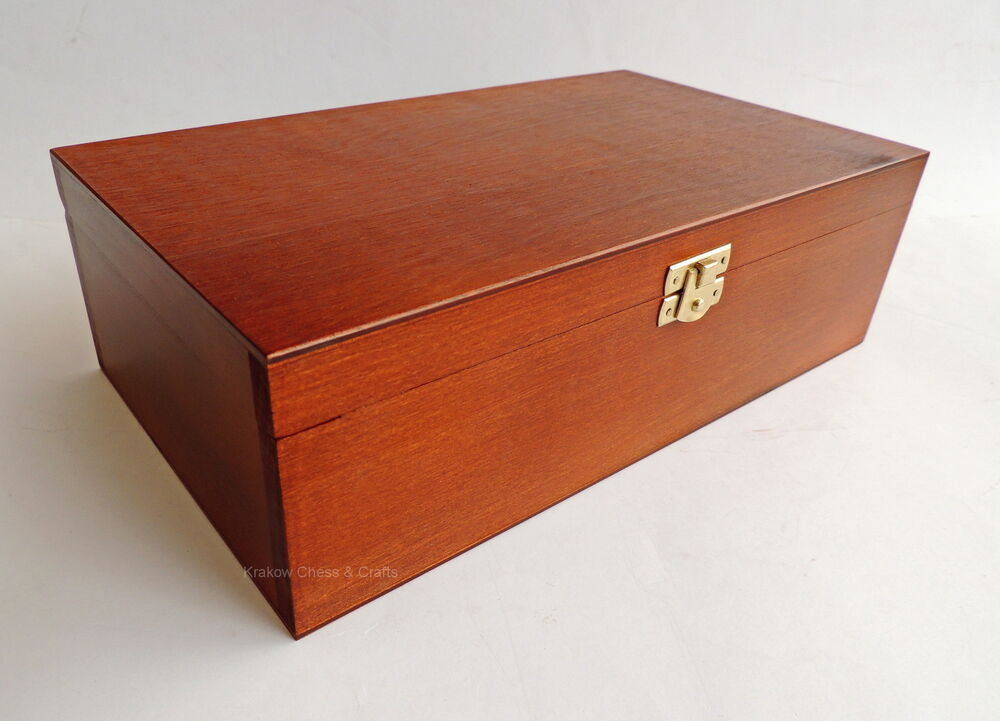 Brand New Large Handmade Brown Wooden Storage Box For