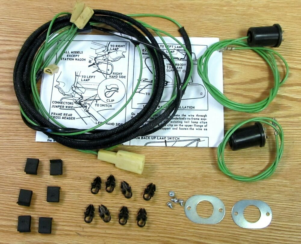 1955 1956 CHEVY BACK UP LIGHT WIRE HARNESS KIT , NEW ** USA MADE