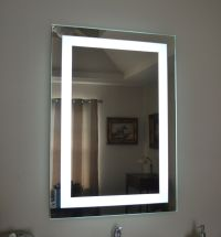Lighted bathroom vanity make up mirror, led lighted, wall ...
