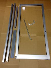 GLASS ALUMINUM STOREFRONT DOOR, AND FRAME 3'0 X 7'0 ...