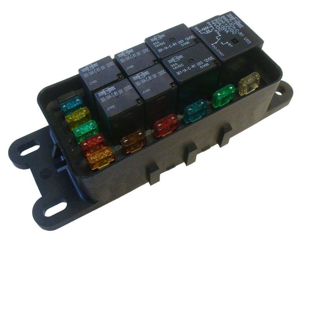 universal fuse and relay block