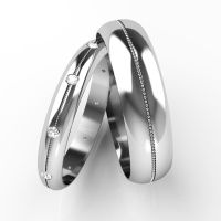 Matching Wedding Rings His and Hers Diamond Set Bands 9ct ...